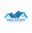 real estate house graphic design template vector image vector image