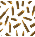 realistic detailed 3d bullets seamless pattern vector image vector image