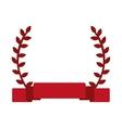 red laurel wreath banner vector image vector image
