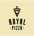royal pizza minimalism style logo icon vector image vector image