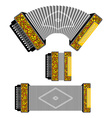Russian accordion musical instrument harmonic vector image vector image