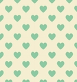 Seamless polka dot yellow pattern with green heart vector image