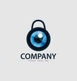 security camera logo technology vector image