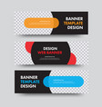 set black horizontal web banners with a place vector image vector image