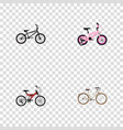 set of bicycle realistic symbols with bmx kids vector image vector image