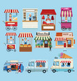 set of business booths vector image vector image