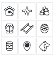 Set of Earthquake Icons Destruction vector image vector image