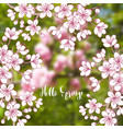 spring background with sakura vector image vector image
