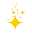 stars on blank background in flat design yellow vector image vector image