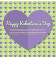 Template Valentines Day Greeting Card Design vector image vector image