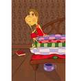 The Princess and the Pea vector image
