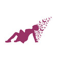 woman lying on the floor vector image vector image
