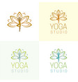 yoga studio logo and icon vector image vector image