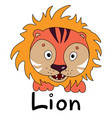 zodiac sign lion impersonated tiger year 2022 vector image vector image