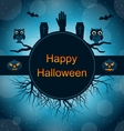 Celebration Card for Halloween Party vector image
