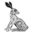 Decorative Rabbit Easter Bunny Hare vector image
