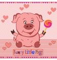 Funny little pig pattern vector image