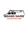 ambulance car logo design vector image