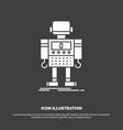 autonomous machine robot robotic technology icon vector image