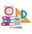 back to school set icons vector image