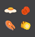 barbecue icons set grill food bbq roast steak vector image vector image