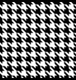 black and white pattern houndstooth seamless vector image