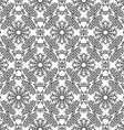 Black and white triangle pattern background vector image vector image