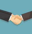 businessman shaking hands agreement vector image