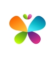 butterfly logo symbol icon design vector image