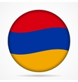 button with waving flag of Armenia vector image vector image