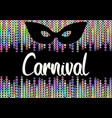 carnival flyer with colorful garlands chains vector image