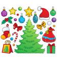 christmas decoration theme 1 vector image