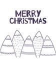 christmas greeting card in scandinavian vector image