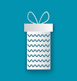 christmas paper cut gift box with waves isolated vector image vector image