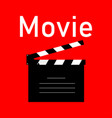 cinematography black icon on red background in vector image vector image