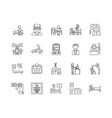 clinics line icons signs set outline vector image vector image