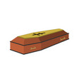 coffin cartoon icon isolated vector image