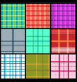 collection plaid patterns vector image
