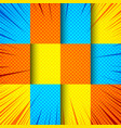 comic colorful bright composition vector image