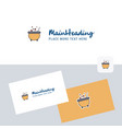 cooking pot logotype with business card template vector image vector image