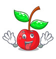 crazy cherries fruit isolated with the cartoon vector image vector image