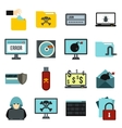 Criminal activity icons set flat style vector image vector image