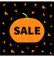 Cute pumpkin Halloween big sale banner poster card vector image