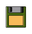diskette old technology vector image
