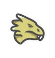 dragon head face icon cartoon vector image