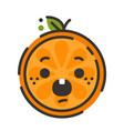 emoji - scream orange smile isolated vector image vector image