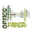 employment in fiber optics text background word vector image vector image