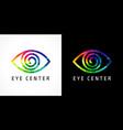 eye clinic color logo vector image