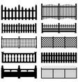 fence picket wooden wired brick garden park yard vector image