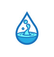 flat color water icon vector image vector image